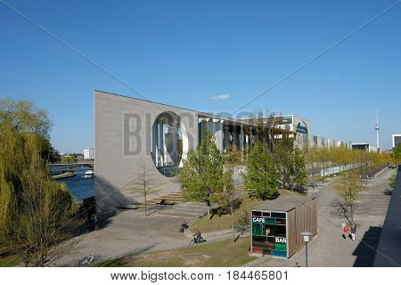German Chancellery Building In Berlin