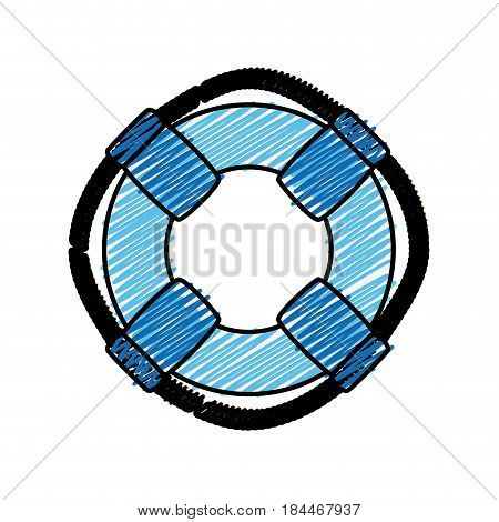 safety float icon over white background. vector illustration
