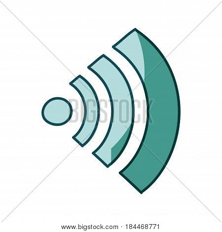 aquamarine hand drawn silhouette of wifi signal icon vector illustration