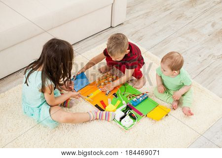 Handmade DIY busy board - sensory children's toy