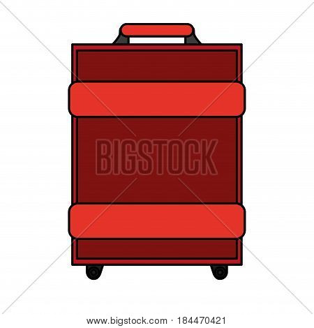 color image travel baggage with handle vector illustration