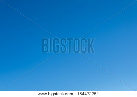 Real clear blue sky no cloud with Bright Sunlight background.