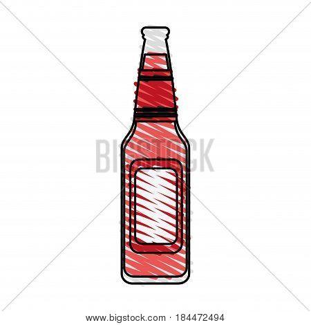 color crayon stripe image bottle glass of refresh beverage vector illustration