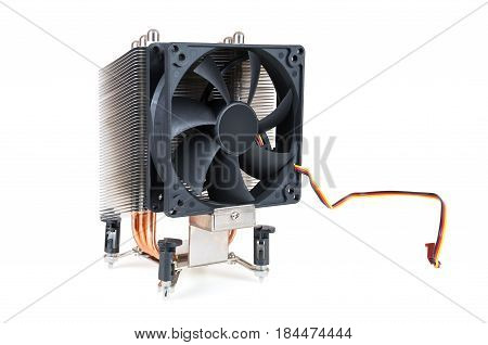 CPU cooler isolated on white background with clipping path