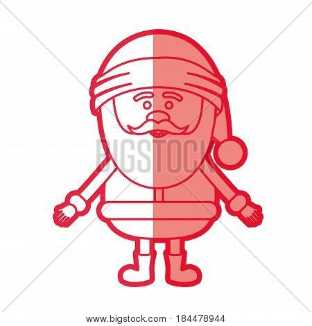 red silhouette of santa claus waiting for hug vector illustration