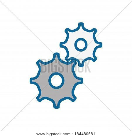 gear wheels icon over white background.v ector illustration