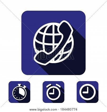 international call icon stock vector illustration flat design