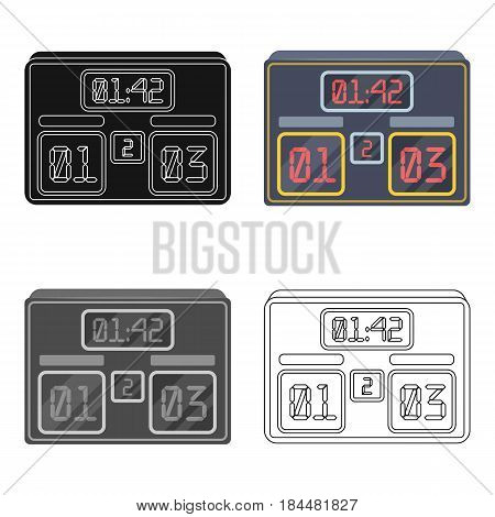 Board with a score of football.Fans single icon in cartoon  vector symbol stock illustration.