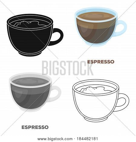 Espresso coffee.Different types of coffee single icon in cartoon style vector symbol stock illustration .