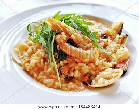 delicious risotto ready to be eaten