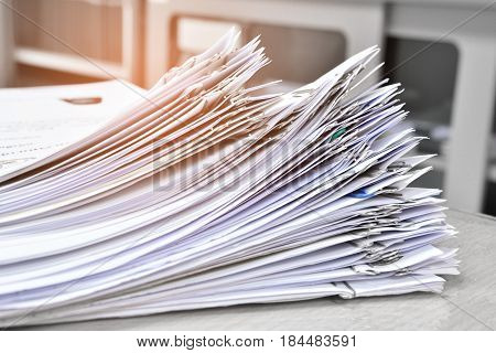 Document paper file management in office store.