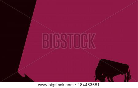 concept Spain corrida bull silhouette vector illustration