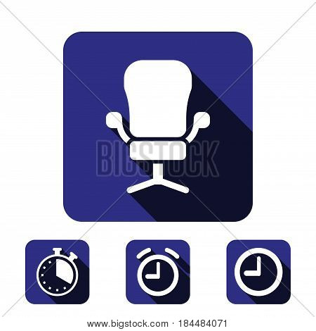 office chair icon stock vector illustration flat design
