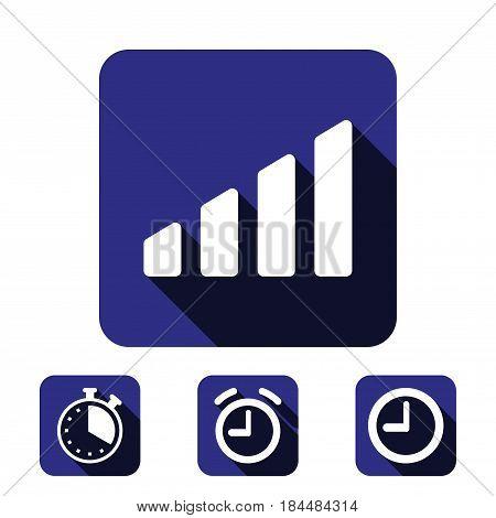 level icon stock vector illustration flat design