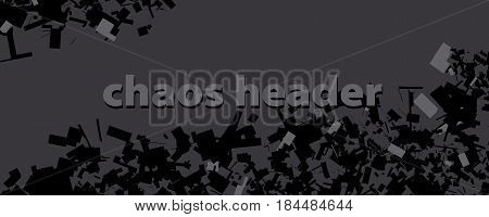 lending page header. chopped chaos vector illustration. geometry vector chaos background
