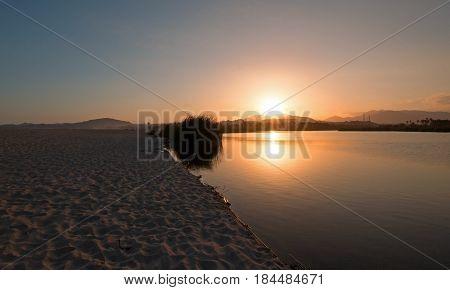 Sunset over San Jose Del Cabo Lagoon near Cabo San Lucas Baja Mexico