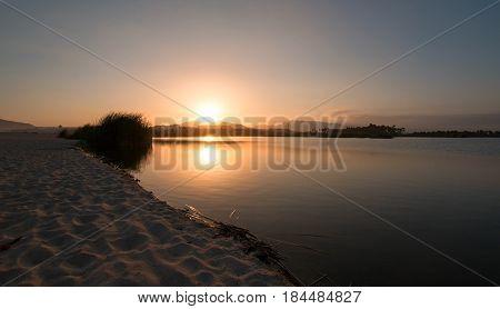 Sunset over San Jose Del Cabo Lagoon near Cabo San Lucas Baja Mexico BCS
