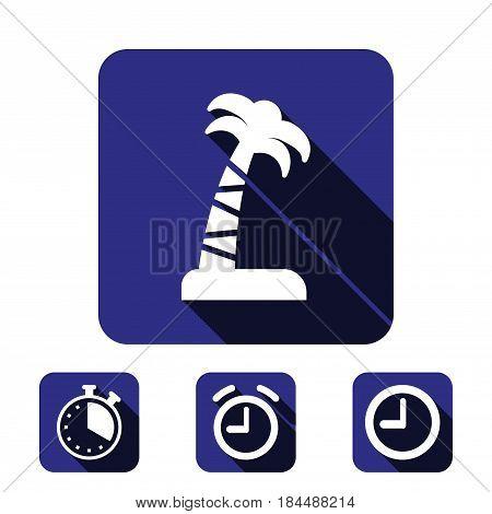 Palm tree icon stock vector illustration flat design