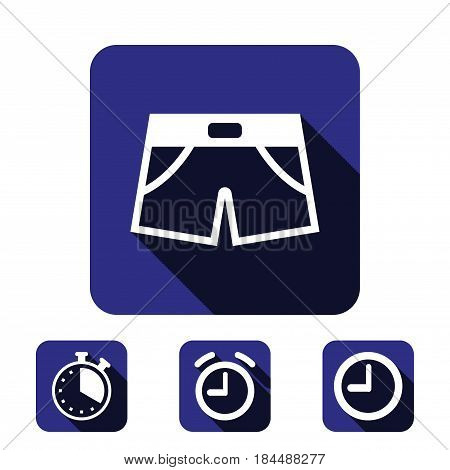 shorts icon stock vector illustration flat design