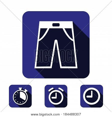 pants icon stock vector illustration flat design