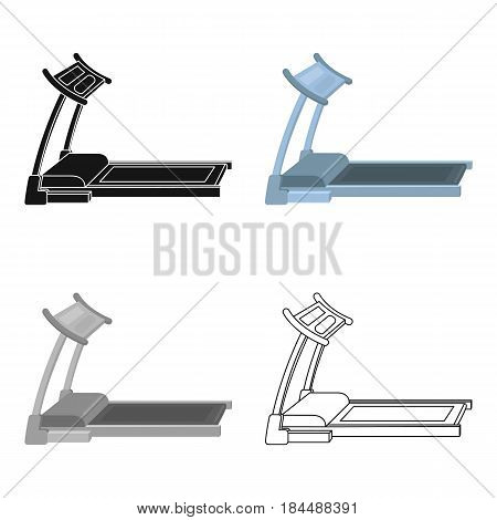 Treadmill. Running simulator for training in the gym.Gym And Workout single icon in cartoon style vector symbol stock web illustration.