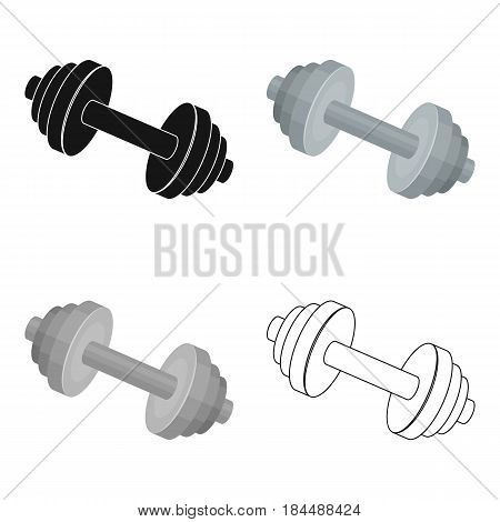 Weights for training. Metal training tools.Gym And Workout single icon in cartoon style vector symbol stock web illustration.