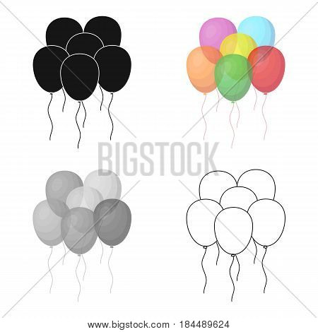 Multicolored inable balls.Party and parties single icon in cartoon style vector symbol stock web illustration.