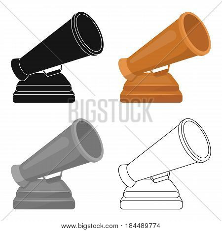 The prize in the form of a loudspeaker on a stand.The award for best Director.Movie awards single icon in cartoon style vector symbol stock web illustration.