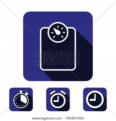 measure the weight icon stock vector illustration flat design
