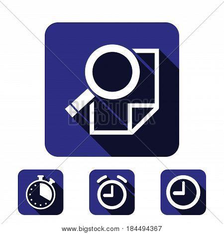 search icon stock vector illustration flat design