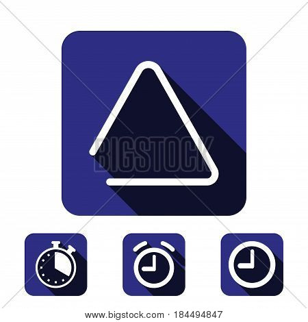 musical metal triangle icon stock vector illustration flat design