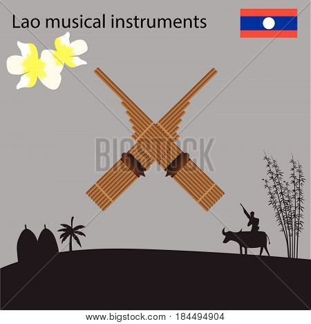 Laos National Musical Instrument national flower of Laos