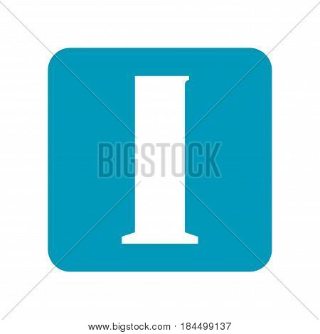 Beaker. Flat icon of laboratory equipment for research, experiments, medicine and pharmaceuticals. Object for design. Illustration
