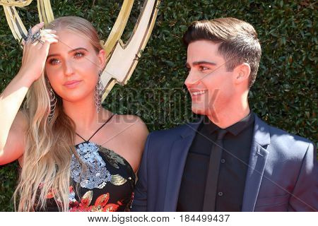 LOS ANGELES - APR 30:  Veronica Dunne, Max Ehrich at the 44th Daytime Emmy Awards - Arrivals at the Pasadena Civic Auditorium on April 30, 2017 in Pasadena, CA