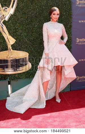 LOS ANGELES - APR 30:  Reign Edwards at the 44th Daytime Emmy Awards - Arrivals at the Pasadena Civic Auditorium on April 30, 2017 in Pasadena, CA