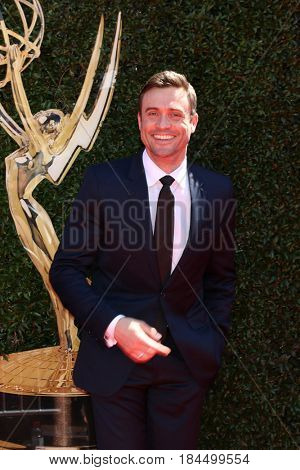 LOS ANGELES - APR 30:  Daniel Goddard at the 44th Daytime Emmy Awards - Arrivals at the Pasadena Civic Auditorium on April 30, 2017 in Pasadena, CA