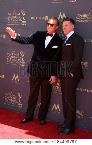 LOS ANGELES - APR 30:  Doug Davidson, Steve Burton at the 44th Daytime Emmy Awards - Arrivals at the Pasadena Civic Auditorium on April 30, 2017 in Pasadena, CA