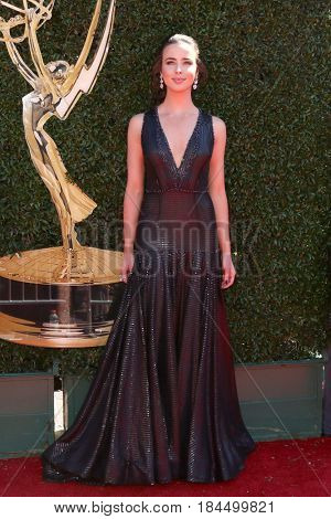 LOS ANGELES - APR 30:  Ashleigh Brewer at the 44th Daytime Emmy Awards - Arrivals at the Pasadena Civic Auditorium on April 30, 2017 in Pasadena, CA
