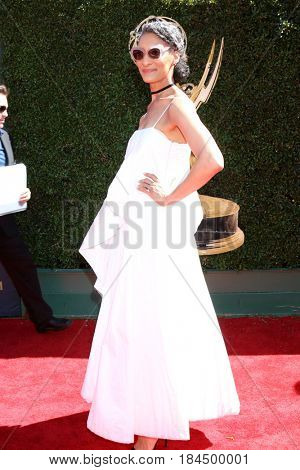 LOS ANGELES - APR 30:  Carla Hall at the 44th Daytime Emmy Awards - Arrivals at the Pasadena Civic Auditorium on April 30, 2017 in Pasadena, CA