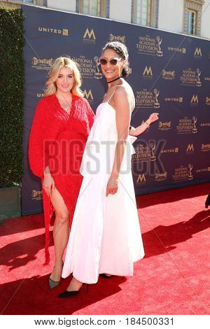 LOS ANGELES - APR 30:  Daphne Oz, Carla Hall at the 44th Daytime Emmy Awards - Arrivals at the Pasadena Civic Auditorium on April 30, 2017 in Pasadena, CA