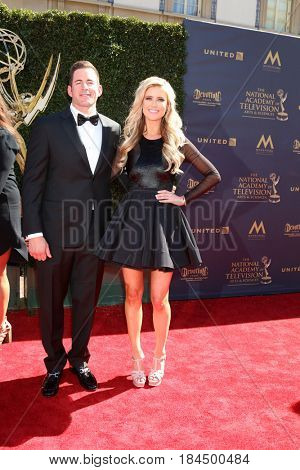 LOS ANGELES - APR 30:  Tarek El Moussa, Christina El Moussa at the 44th Daytime Emmy Awards - Arrivals at the Pasadena Civic Auditorium on April 30, 2017 in Pasadena, CA