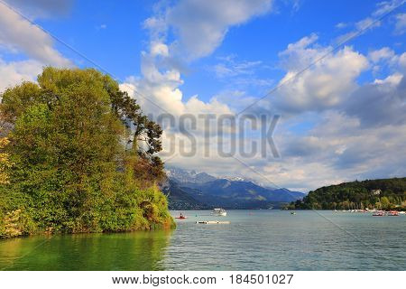 Annecy Lake, Haute Savoie, France, Europe
