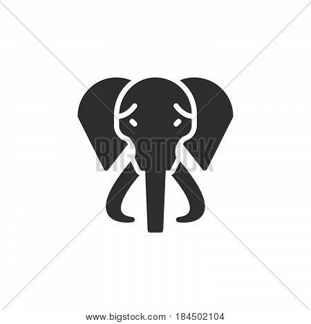 Elephant icon vector filled flat sign solid pictogram isolated on white. Symbol logo illustration. Pixel perfect