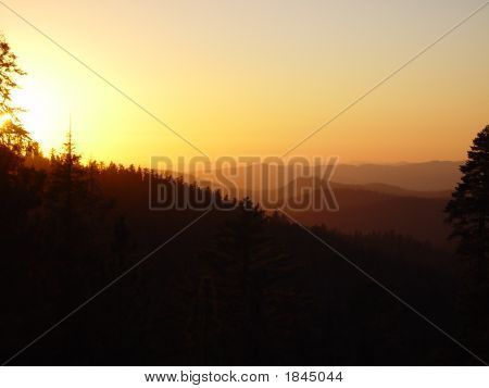 Sunset Over Yosemite
