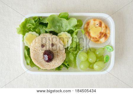 Koala bear lunch box fun food art for kids