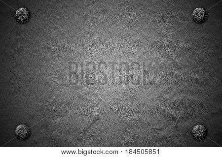 Grunge Metal Background. Rivet On Metal Plate.