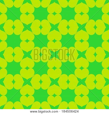 Heart chaotic seamless pattern. Fashion graphic background design. Modern stylish abstract color texture. Template for prints textiles wrapping wallpaper website. Stock VECTOR illustration
