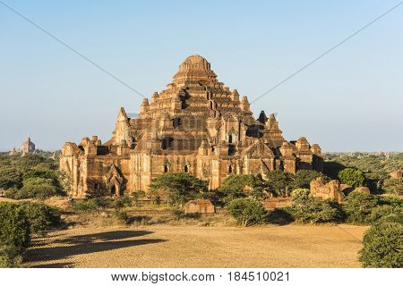 Late afternoon sun shines on Dhammayangyi Pahto Temple in the ancient city of Bagan, Myanmar.