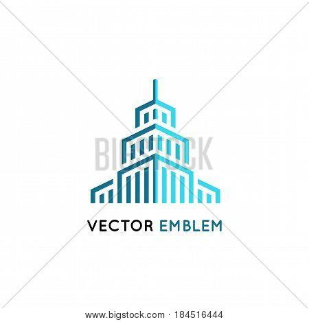 Vector  Architecture And Building Sign - Skyscraper Illustration