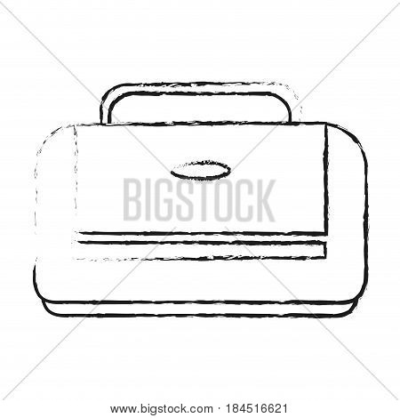 blurred silhouette executive bag with handle vector illustration